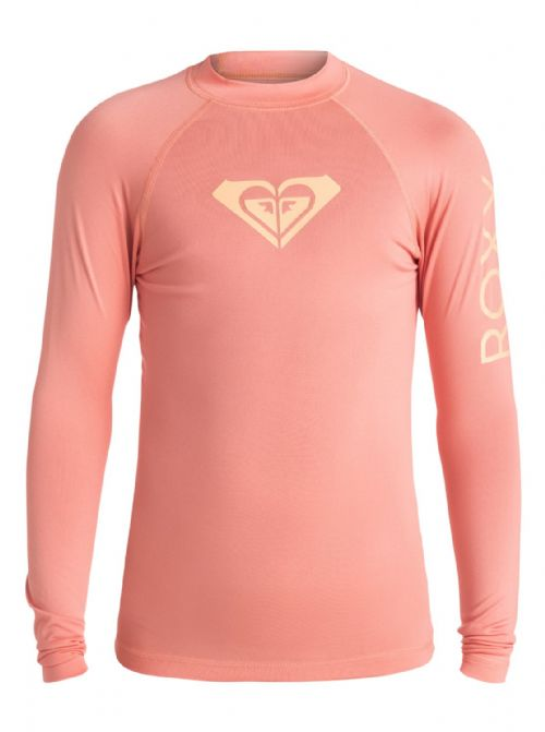 ROXY GIRLS WHOLE HEARTED UPF50+ SUN PROTECTION RASH VEST/TOP T SHIRT 6W/3007/MGE